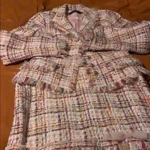Teri Jon tweed blazer & skirt